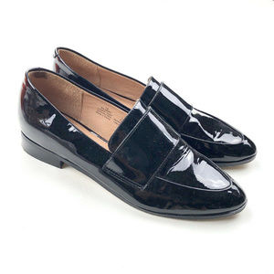 Halogen Loafers Flats Women Black Leather Size: 7